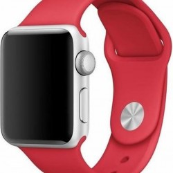 Colorfone Red Silicon Strap for 38/40mm Apple Watch (Series 1/2/3/4/5/6/SE)