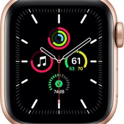 Apple Watch SE GPS 44mm Gold Aluminum Case with Pink Sand Sport Band EU
