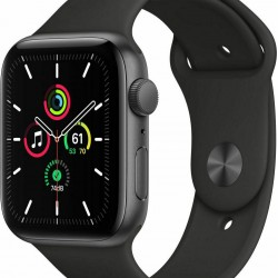 Apple Watch SE GPS 44mm Space Grey Aluminum Case with Black Sport Band EU