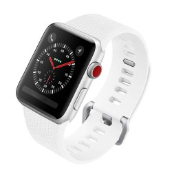 Colorfone White Silicon Strap for 42/44mm Apple Watch (Series 1/2/3/4/5/6/SE)