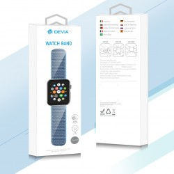 Devia Delux Red Nylon Strap for 42/44mm Apple Watch (Series 1/2/3/4/5/6/SE)