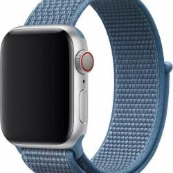 Devia Deluxe Series Blue Nylon Strap Apple Watch 38/40mm (Series 1/2/3/4/5/6/SE)