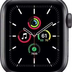 Apple Watch SE GPS 40mm Space Grey Aluminum Case with Black Sport Band EU