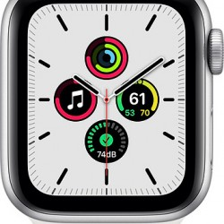 Apple Watch SE GPS 40mm Silver Aluminum Case with Sport Band White EU