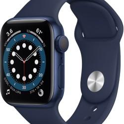 Apple Watch Series 6 GPS 40mm Blue Aluminum Case with Deep Navy Blue Sport Λουράκι EU