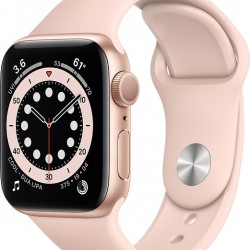 Apple Watch Series 6 GPS 40mm Gold Aluminum Case with Sport Band Pink Sand EU
