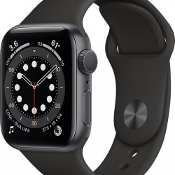 Apple Watch Series 6 GPS 40mm Grey Aluminum Case with Sport Band Black EU