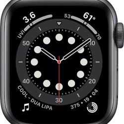 Apple Watch Series 6 GPS 40mm Grey Aluminum Case with Sport Band Black EU