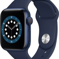 Apple Watch Series 6 GPS 44mm Blue Aluminum Case with Sport Band Beep Navy EU