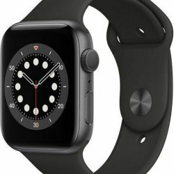 Apple Watch Series 6 GPS 44mm Space Grey Aluminum with Black Sport Band EU