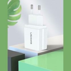 USAMS Wall Charger T24 2.1A - White