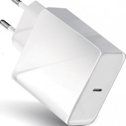 Forcell Charger White with USB type-C to Lightning Cable (3.00A - 20W) with PD and QC function for i-phone