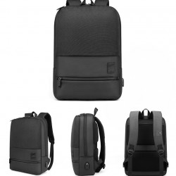 Arctic Hunter Backpack Black 15.6'', B00360-BK with laptop case, USB