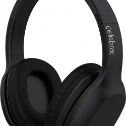 Celebrat Bluetooth Headphones Black (A18-BK), Wireless and Wired