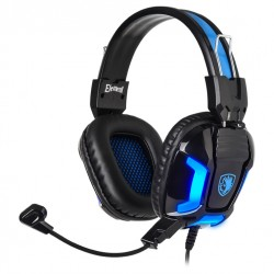 SADES Gaming Headset Element SA-702-BL, BLUE LED, 3.5mm, 40mm Headphones