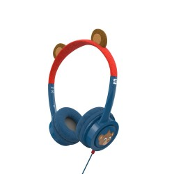 iFrogz Little Rockerz Costume Headphones with Buddy Jack and Coiled Cable - Bear