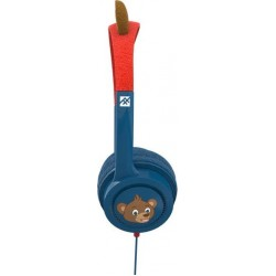 iFrogz Little Rockerz Costume Headphones with Buddy Jack & Coiled Cable - Bear