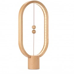 Allocacoc Balance Lamp Wooden Ellipse Light Wood