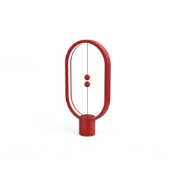 Allocacoc Heng Balance Plastic Lamp Ellipse Red
