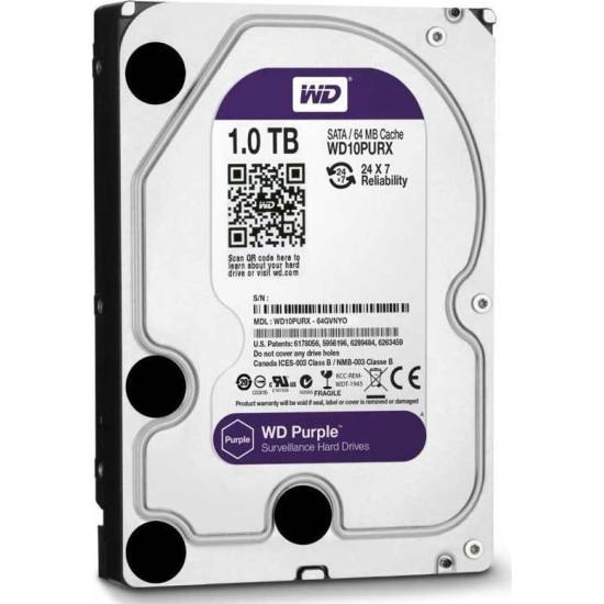 Western Digital Purple Surveillance 3.5'' 1TB, 5400RPM, 64MB, SATA III
