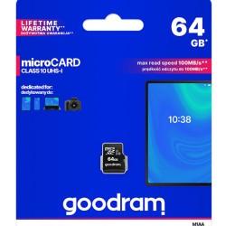 GOODRAM Memory Card M1AA microSDΧC UHS-1, 64GB, Class 10