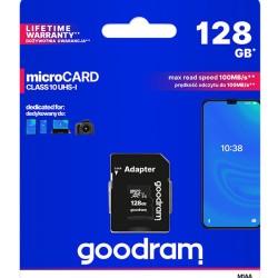 GOODRAM Memory Card M1AA microSDΧC UHS-1, 128GB, Class 10