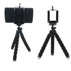 Tripod Stand Holder for Mobile Phones - Black  (SSTR-15-BLK)