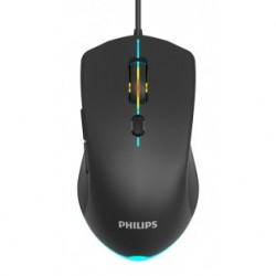 Philips Wired Gaming Mouse Βlack SPK9404, 2400DPI
