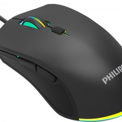 Philips Wired Mouse Βlack SPK9404, 2400DPI