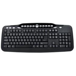 POWERTECH Wired Keyboard Multimedia 122 Keys Black