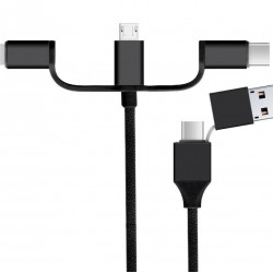 Powertech USB cable 2.0 and Type-C to USB Type-C/Micro/8pin 1m