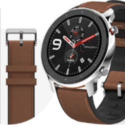 Xiaomi Amazfit GTR 47mm Stainless Steel with Brown Band