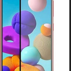 Tempered Glass Black for Samsung Galaxy A21s - Ηard Ceramic