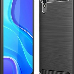 Forcell Carbon Case Black for Xiaomi Redmi 9A