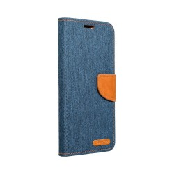 Canvas Book Case for Samsung Galaxy M21 - Navy Blue