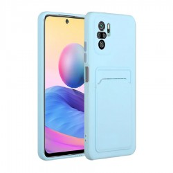 Back Cover Case Light Blue for Xiaomi Poco X3 NFC/X3 Pro with Card Slot