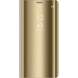 Smart Clear View Case for Xiaomi Redmi Note 9S/9 PRO Gold