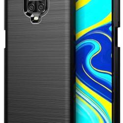 PowerTech Case Carbon Flex Black Xiaomi Note 9 Pro/Note 9S