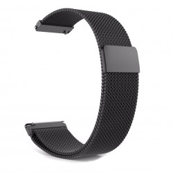 Replacement Magnetic Metal Strap 20mm, Black for Samsung Galaxy Watch R810 (42mm)/Active R500 (40mm)/Active 2 R820 (44mm)/Active 2 R830 (40mm)/Gear Sport – Xiaomi Amazfit GTS/GTR (42mm)/3 Verge - Huawei Watch 2 (Sport)/GT 2 (42mm)