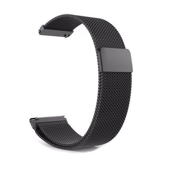 Replacement Magnetic Metal Strap 20mm, Black for Samsung Galaxy Watch R810 (42mm)/Active R500 (40mm)/Active 2 R820 (44mm)/Active 2 R830 (40mm) – Xiaomi Amazfit GTS|GTS 2|2e (43mm)/GTR (42mm) - Huawei Watch 2 (Sport)/GT 2 (42mm)