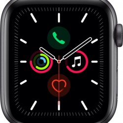 Apple Watch Series 5 GPS Aluminium Space Gray 44mm Black Sport Band