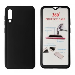 Phone Case Body 360° Black for Xiaomi Mi 9 Lite with Tempered Glass - POWERTECH - 6.39''