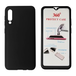 Black Body Case 360° for Xiaomi Redmi 8 with Tempered Glass, POWERTECH