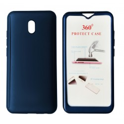 Blue Body Case 360° for Xiaomi Redmi 8A with Tempered Glass, POWERTECH